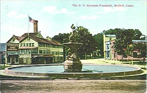Bethel, Connecticut - Image: Postcard Fountain Bethel CT1914