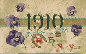 1910 in the United States - New Year's Day card