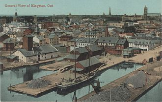 Kingston, Ontario Inner Harbour - Postcard of the waterfront of Kingston, Ontario, Canada