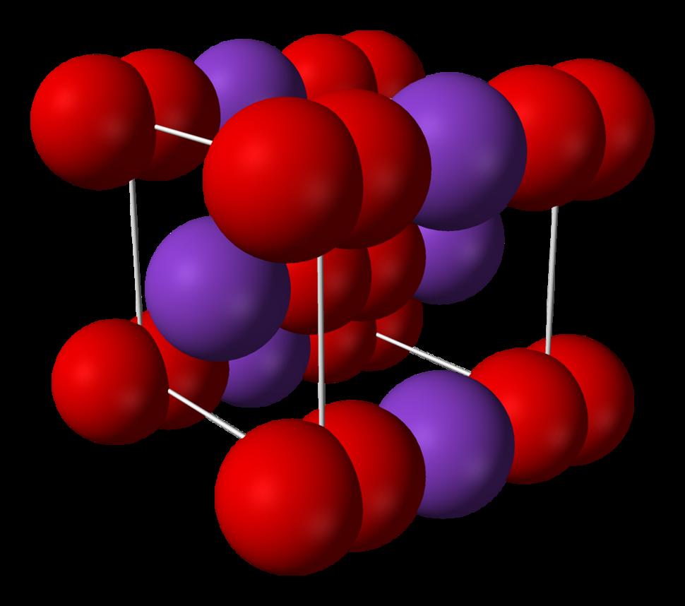 Potassium-superoxide-unit-cell-3D-ionic