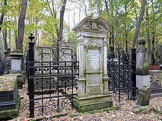 cemetery in Warsaw, Poland