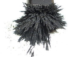 Powder steel on magnet