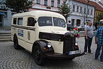 Praga Aero 150 bus at celebrate of 60 years of public transport in Třebíč, Třebíč District.JPG