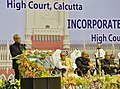 Pranab Mukherjee addressing at the concluding ceremony of the Sesquicentennial Celebrations of Calcutta High Court, in Kolkata on January 20, 2013. The Governor of West Bengal, Shri M.K. Narayanan is also seen.jpg