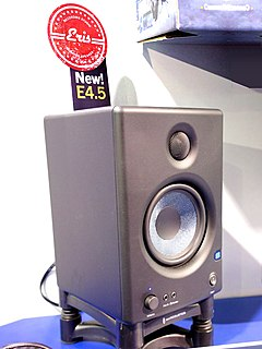 Studio monitor speaker specifically designed to reproduce sound accurately