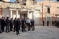 President Barack Obama tour earthquake damage in L'Aquila, Italy - Wednesday, July 8, 2009.jpg