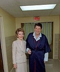 President Reagan with Nancy four days after the shooting - C1475-13.jpg