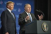 President Trump and Secretary Pompeo Speak to the Press (46512865574).jpg