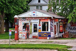 U.S. Route 30 in Iowa - Image: Preston's Station Belle Plaine