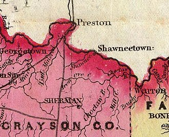 Preston, Texas - Preston in 1856