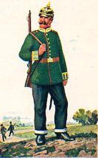 Feldgendarmerie - Preußischer Landgendarm der XI. Gendarmerie-Brigade Kassel