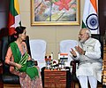 Prime Minister Narendra Modi with State Counsellor of Myanmar Aung San Suu Kyi.jpg