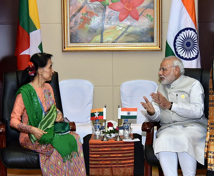 File:Prime Minister Narendra Modi with State Counsellor of Myanmar Aung San Suu Kyi.jpg