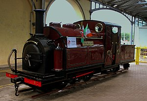 Ffestiniog Railway rolling stock - Image: Princess at Dublin Heuston Station
