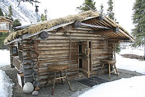 English: Proenneke Cabin in Lake Clark Nationa...