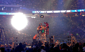 Gli atleti si contendono la valigetta del Money in the Bank a WrestleMania XXV (2009).