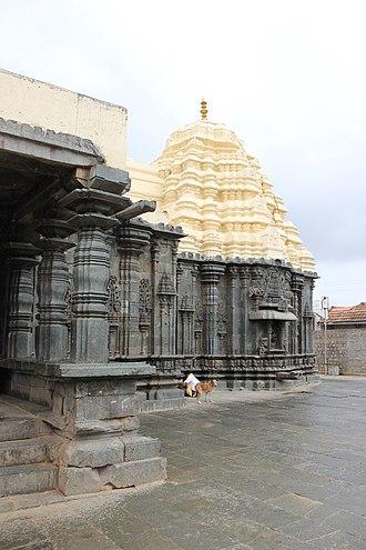 Mallikarjuna Temple, Kuruvatti - Image: Profile of Mallikarjuna temple at Kuruvatti