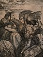 Prometheus bound to a rock, his liver eaten by an eagle. Eng Wellcome V0041858.jpg