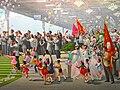 Propaganda artwork showing Pyongyang railway station.jpg
