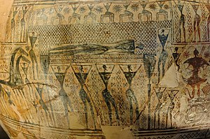 Ancient Greece - Dipylon Vase of the late Geometric period, or the beginning of the Archaic period, {{circa}} 750 BC.