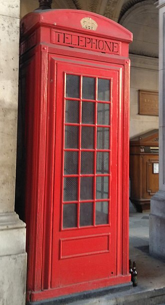 Red telephone box - Prototype K2 at the Royal Academy in London