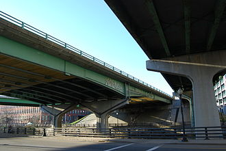 Providence Viaduct - View of Providence Viaduct (on left).