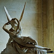 Antonio Canova's Psyche Revived by Cupid's Kiss was commissioned in 1787, and the first version was donated to the Louvre after the reign of Napoleon I in 1824.