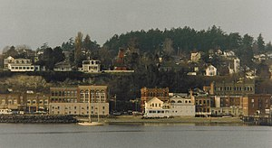 Port Townsend, Washington - The heart of downtown Port Townsend, seen from the water