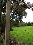 Public footpath sign, Alvechurch.JPG