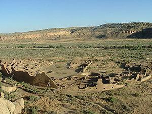 Great house (pueblo) - Pueblo Bonito, in Chaco Canyon