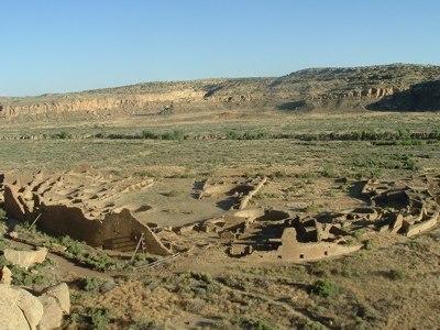 Pueblo Bonito Aerial Chaco Canyon