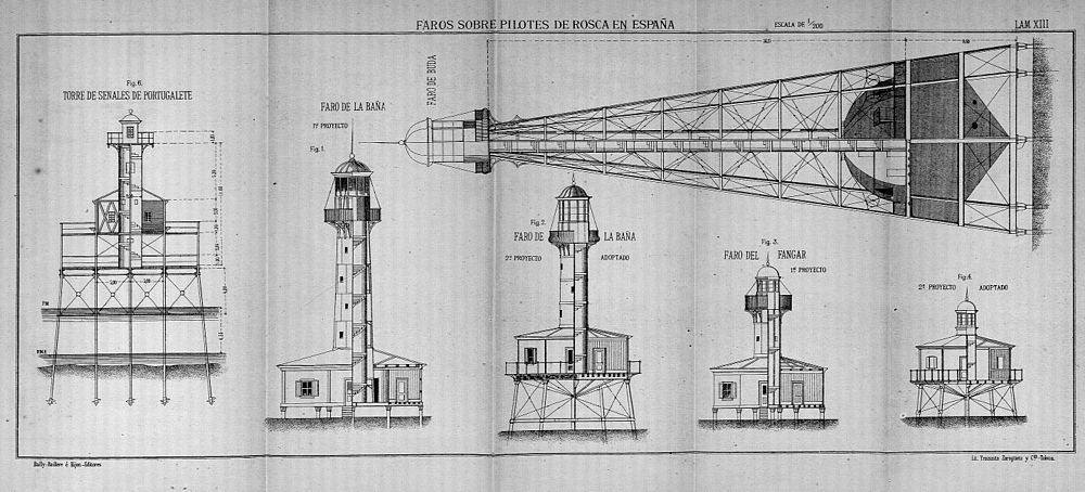 Faro Sobre Pilotes De Rosca Wikipedia La Enciclopedia Libre