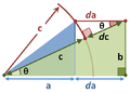 Pythagoras differential derivation.PNG