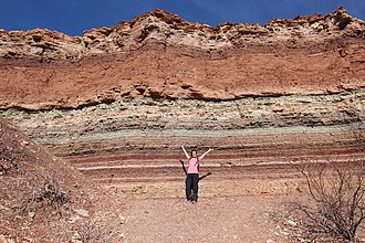 Stratigraphy - Strata in Cafayate (Argentina)