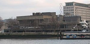 Queen Elizabeth Hall - Queen Elizabeth Hall from the river in 2009
