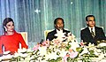 Queen Farah of Persia Egyption President Anwar Sadat Mohammad Reza Shah Pahlavi of Persia 1975.jpg