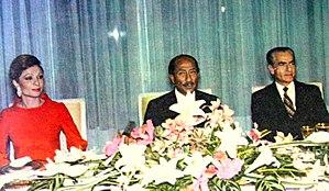 English: Left to Right: Queen Farah Diba of Pe...