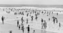Southport, Queensland-History-Queensland State Archives 1165 Surfing at Southport December 1930