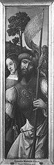 Flügel eines Triptychons: Ritter mit seinen Knappen (Schule)