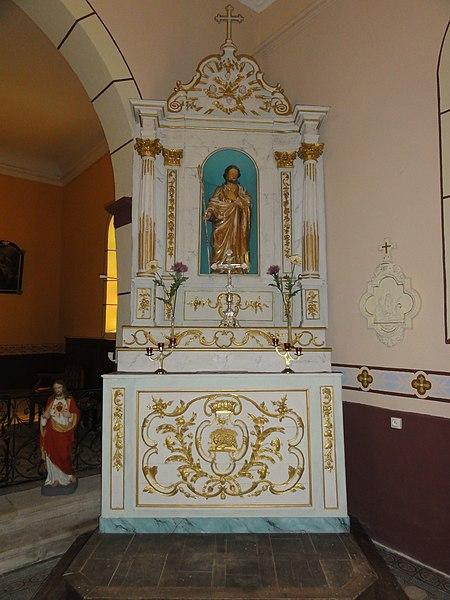 Réclonville (M-et-M) église, autel dr