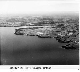 aerial view of RCAF Kingston