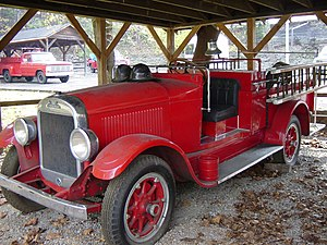 REO Speed Wagon - A REO Speed Wagon Fire Truck at Jack Daniel's Distillery, Lynchburg, Tennessee