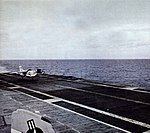 RF-8A Crusader of VFP-63 landing on USS Hancock (CVA-19), in 1963.jpg