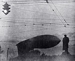RIAN archive 43140 Barrage balloon above the Pushkin monument.jpg