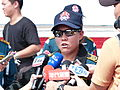 ROCA Dragon Team Staff Sergeant Lu Interviewing by Mass Media 20131012b.jpg