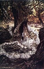 Anillo de hadas en un árbol