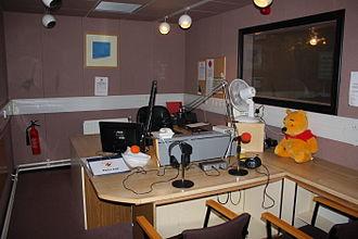 Radio City 1386AM - Radio City 1386AM's main broadcasting studio.