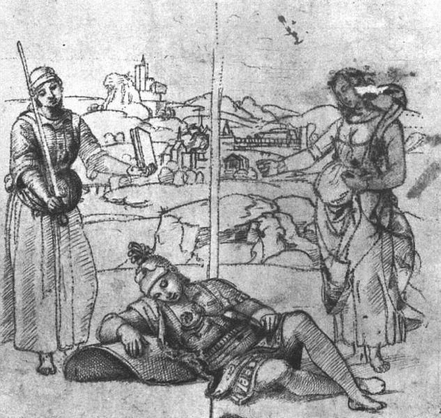 File:Raffaello Sanzio - The Knight's Dream (study) - WGA18899.jpg