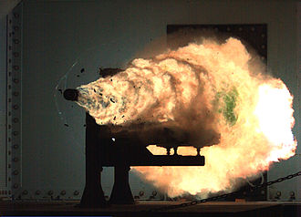 Railgun - Naval Surface Warfare Center test firing in January 2008