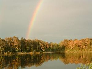 Cumberland, New Jersey - Image: Rainbow over Cumberland Pond